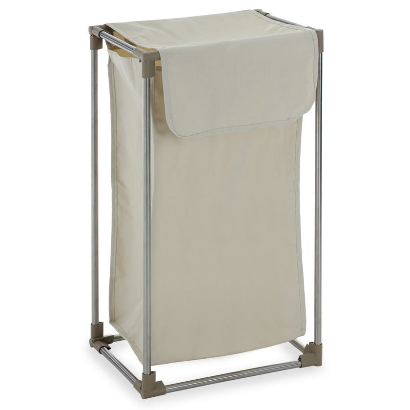 Laundry Hamper with Stand, Beige – 76 cms