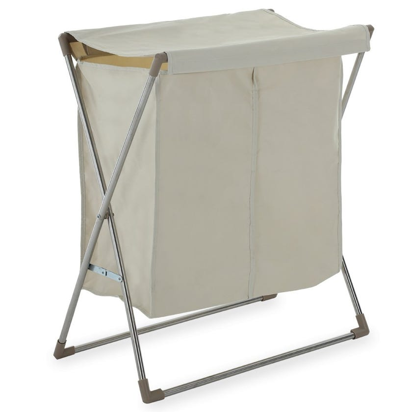 Laundry Hamper with Foldable Stand, Beige – 74.5 cms