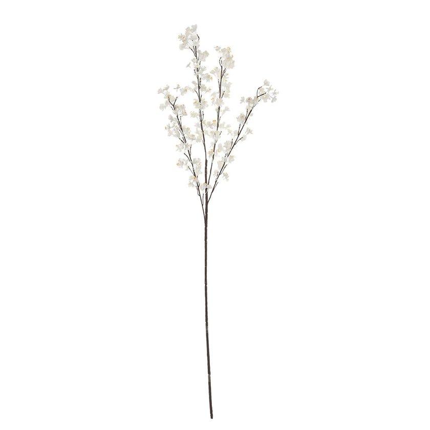 Artificial Mini Prunus Branch, White & Cream – 89 cms