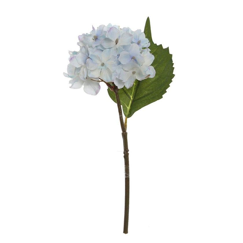 Single Hydrangea Artificial Stem, Blue & Lilac – 24 cms