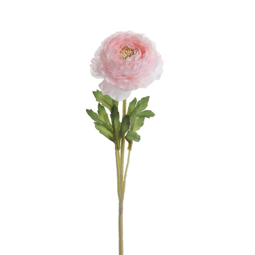Flock Faile Ranunculus Artificial Flower (Baby Pink, 62 cms)