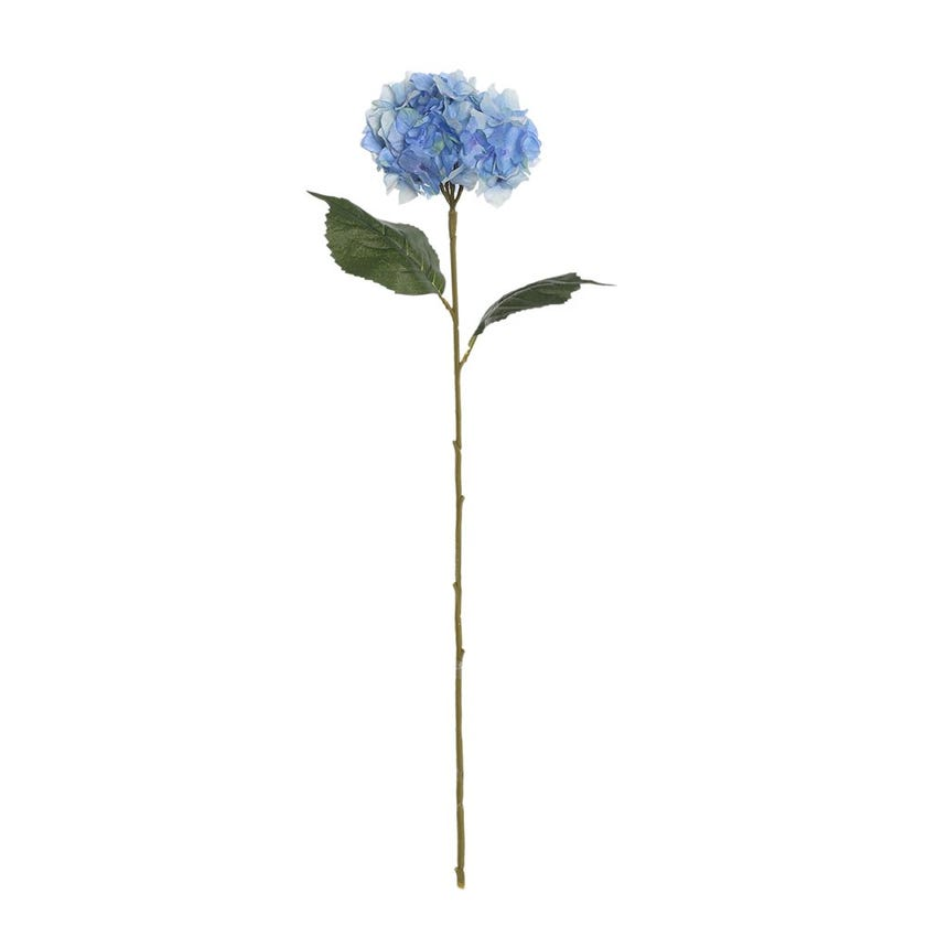 French Hydrangea Artificial Stem, Mixed Blue – 78 cms