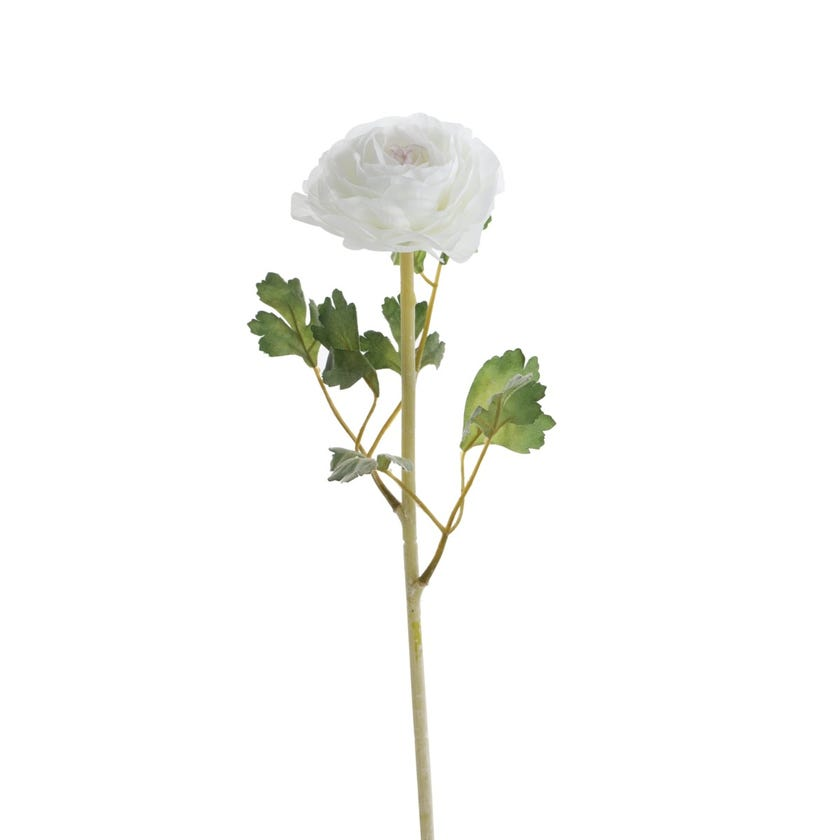 Ranunculus Romance Artificial Flowers (Cream and Lilac, 62 cms)