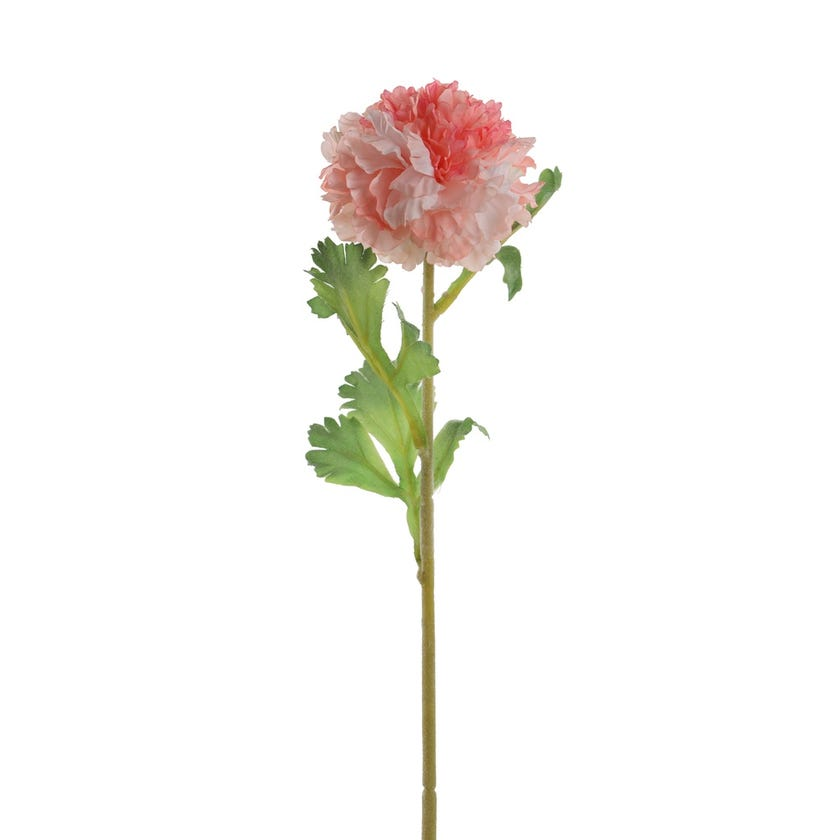 Ranunculus Raffle Romance Artificial Fower (Romance Peach, 44 cms)