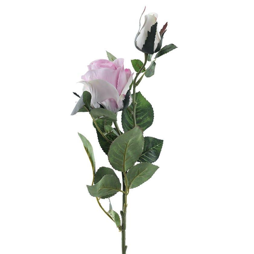 Rose Bud Double Romance Stem, Passion Lilac – 77 cms