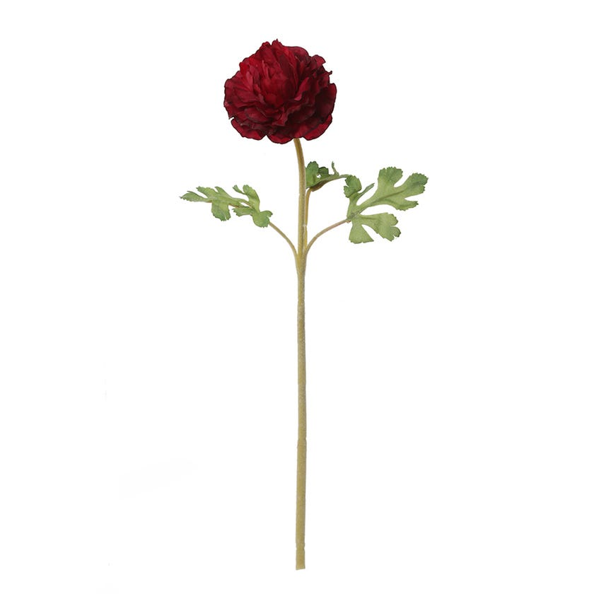 Ranunculus Dome Faile Artificial Flower, Aubergine - 38 cms