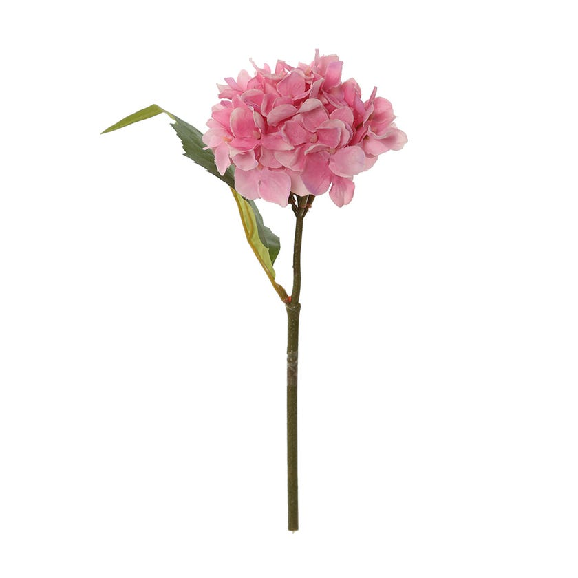 Single Hydrangea Artificial Stem, Mauve Pink – 24 cms