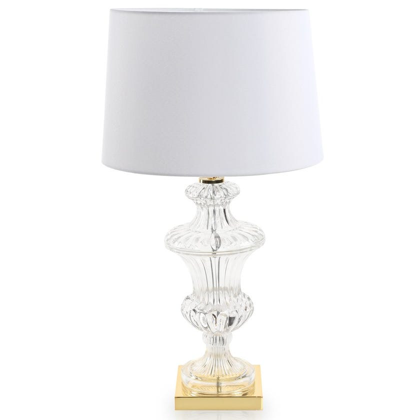 Glass Table Lamp, Clear – 66 cms
