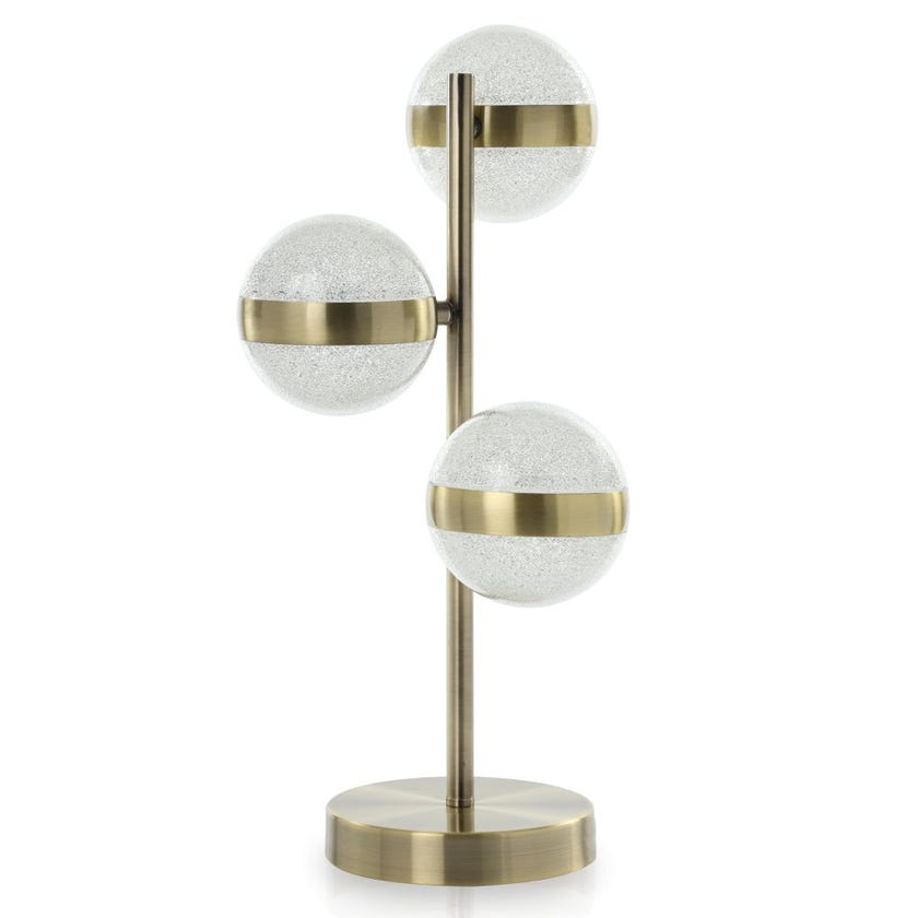 Orla LED Table Lamp, Antique Brass – 25x45 cms