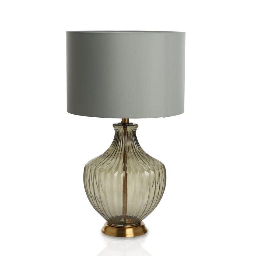 Boston Glass Table Lamp, Grey - 66 cms