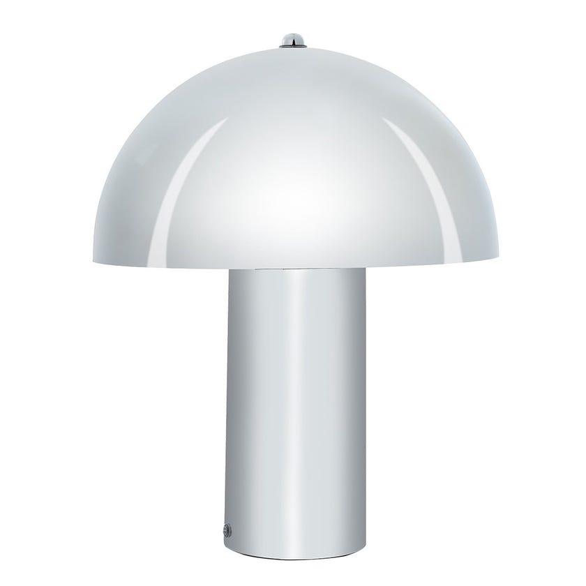 Vegas Metal Table Lamp, Silver – 43.5x35 cms