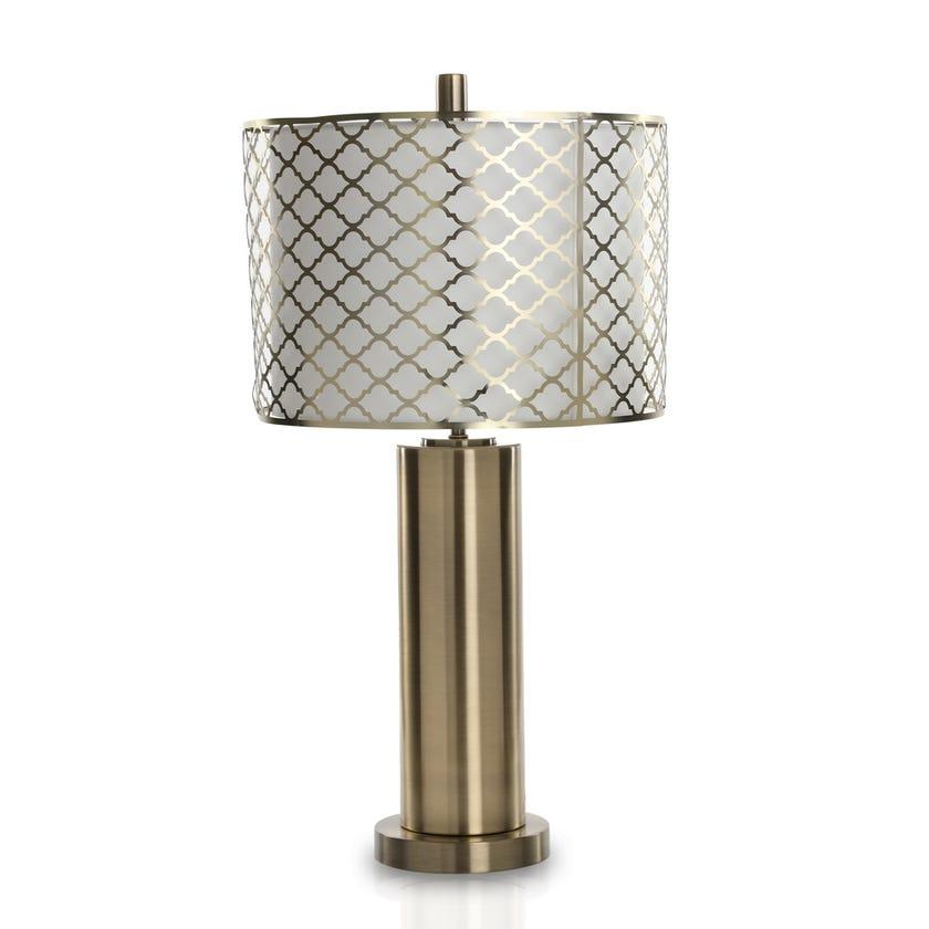Tampa Metal Acrylic Table Lamp, Gold - 61 cms
