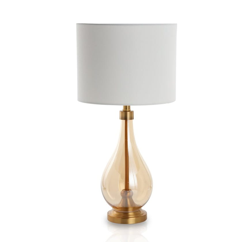 Aurora Glass Table Lamp, Clear - 66 cms