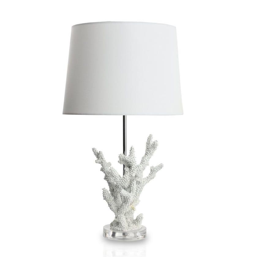 Reno Table Lamp, White - 61 cms