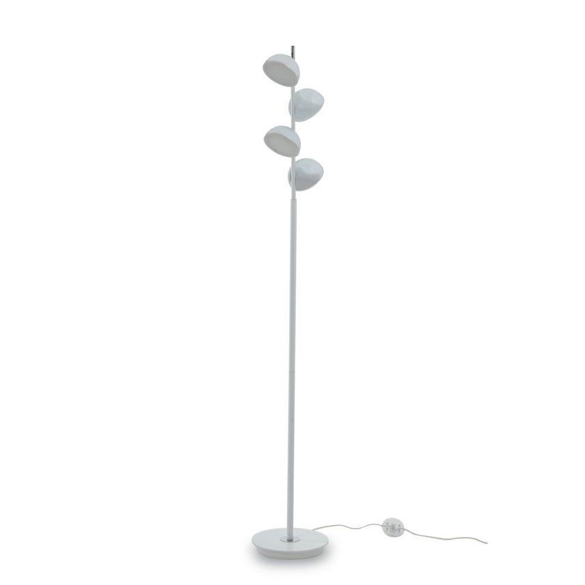 Maxx LED Floor Lamp, White & Chrome – 35x48 cms
