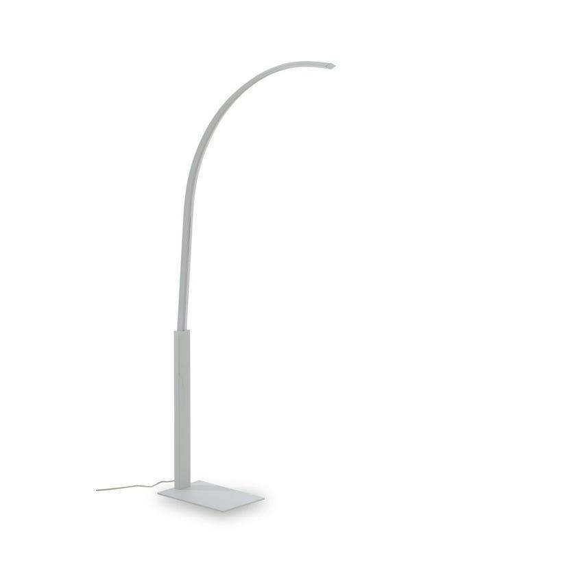 Mehar LED Floor Lamp, White – 61x160 cms