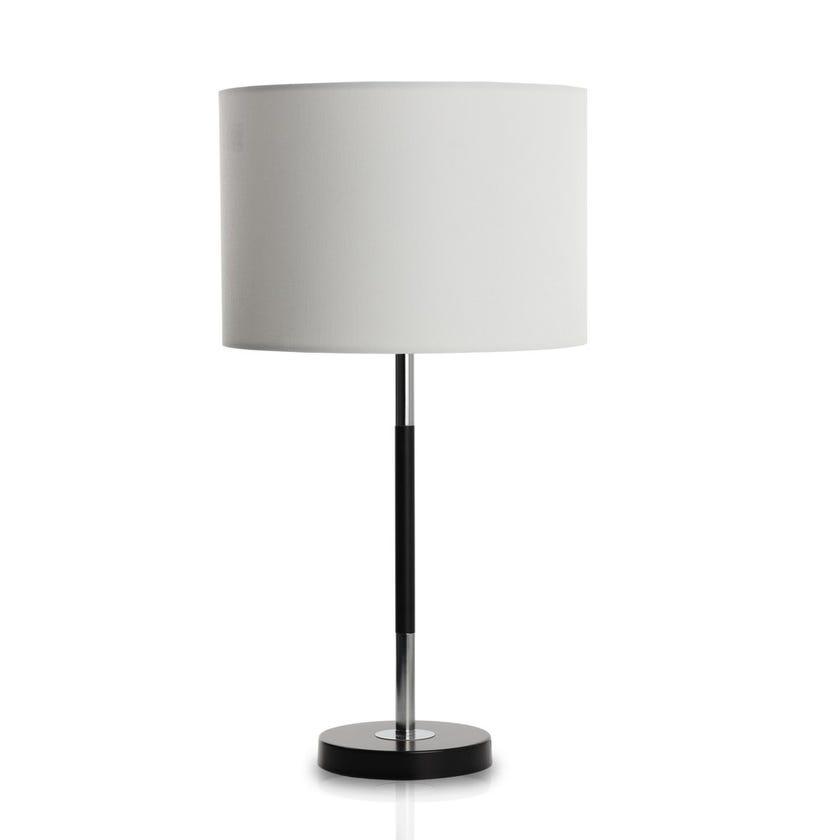 Toledo Metal Table Lamp, Black & White - 62 cms