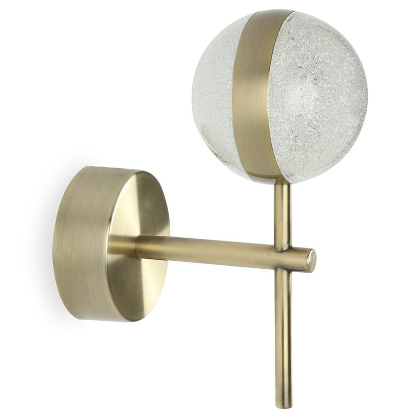 Orla LED Wall Lamp, Antique Brass – 20x16 cms