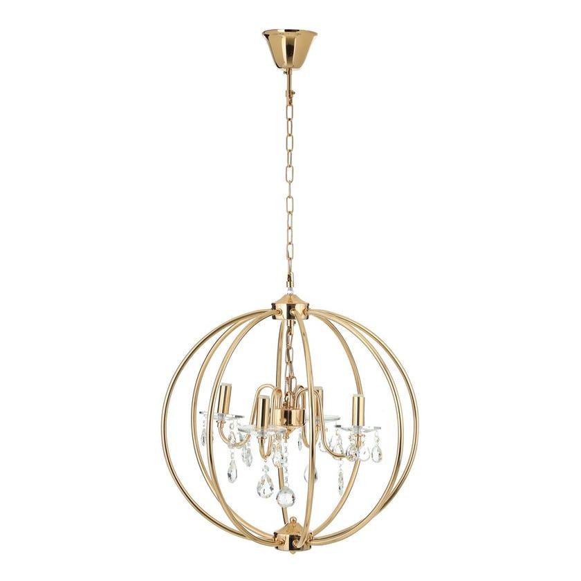 Optical Metal Pendant Lamp - 54 x 56 cms