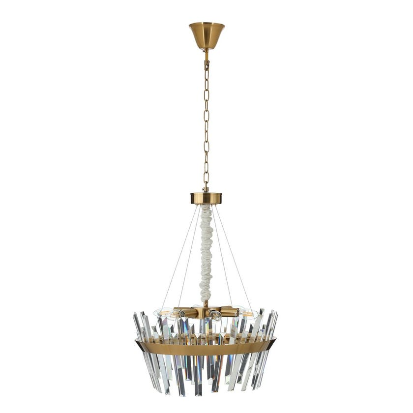 Cleopatra Crystal Pendant Lamp, Copper & Clear - 50x51 cms