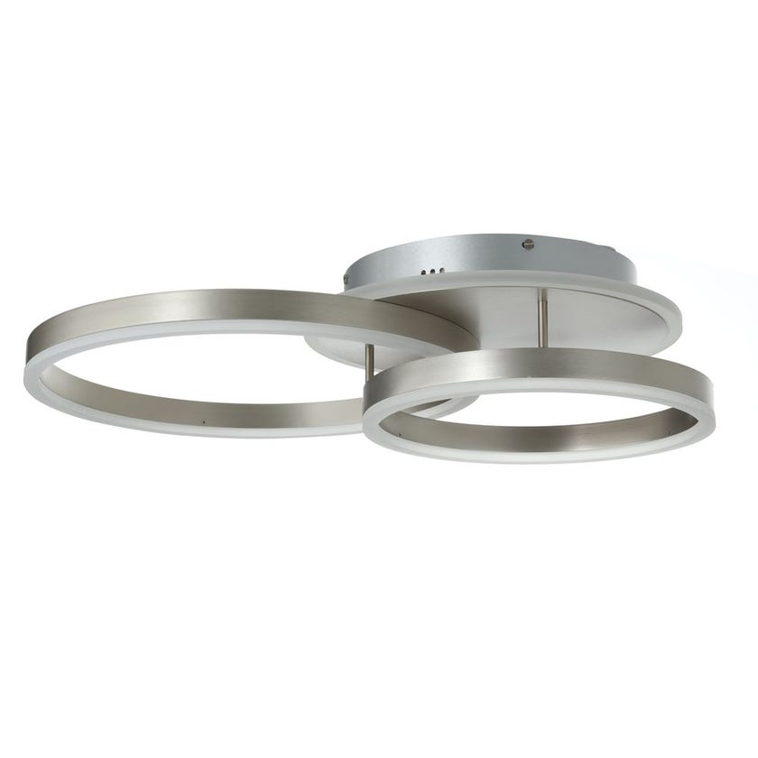 Veinna LED Ceiling Lamp, Nickel – 57x11 cms