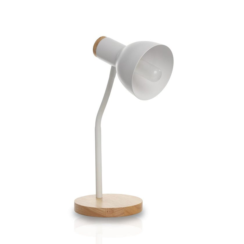 Cindy Table Lamp, White & Natural – 23x35 cms