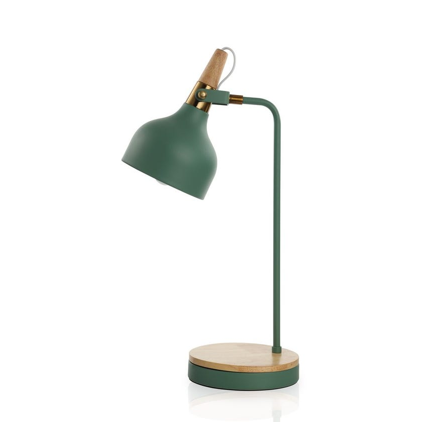 Mcallen Study Table Lamp, Green -22x56 cms