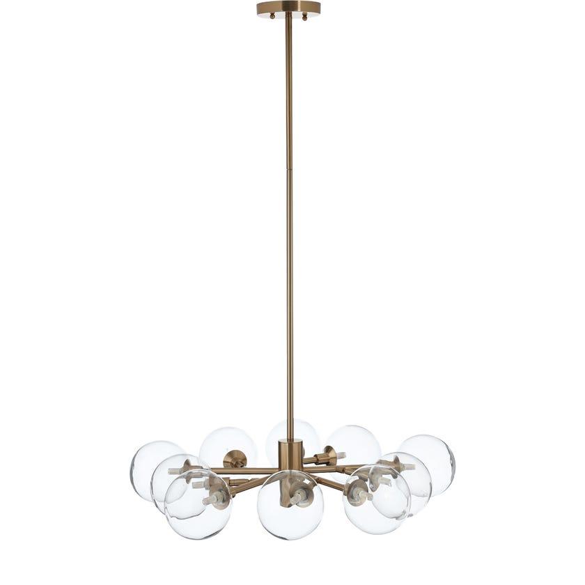 Guam Pendant Lamp, Antique Brass – 80x120 cms