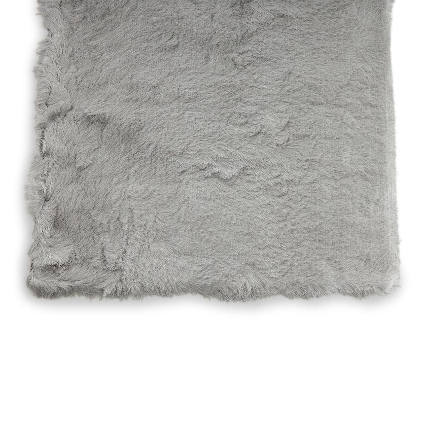 Lurex Medium Rug (Pure Grey, Polyester, 230 x 160 cms)