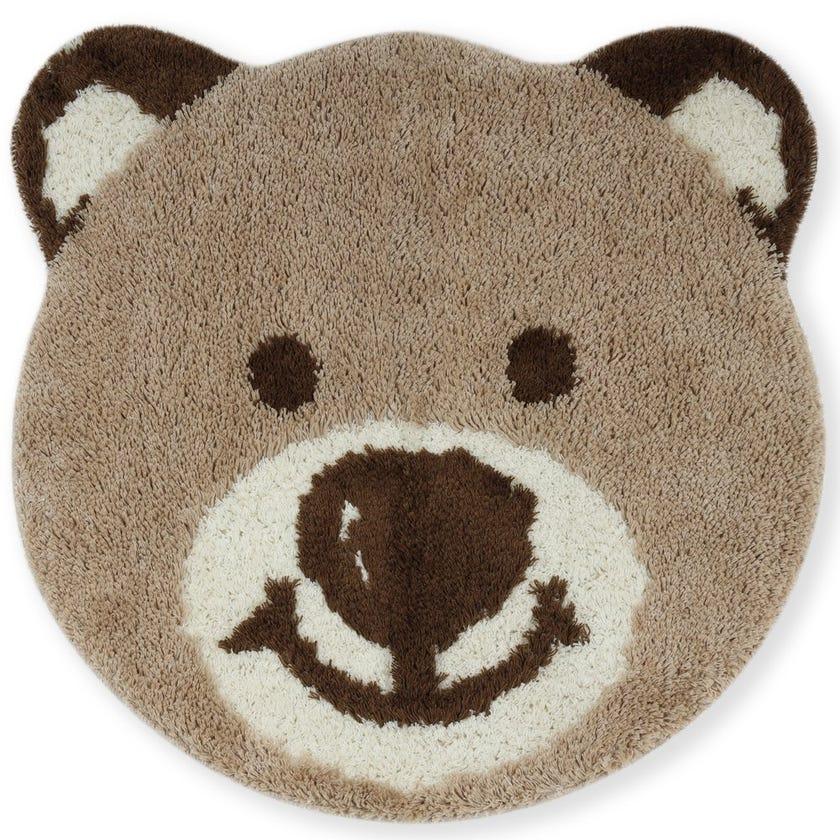 Bear Face Kids Bath Rug, Multicolour