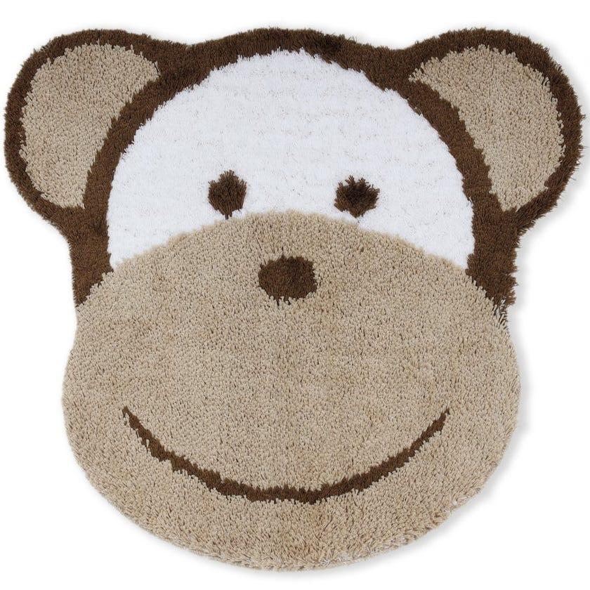 Monkey Face Kids Bath Rug, Multicolour