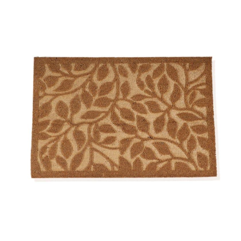 Bikaner Coir Embossed Rectangle Mat (Natural, 60 x 90 cms)