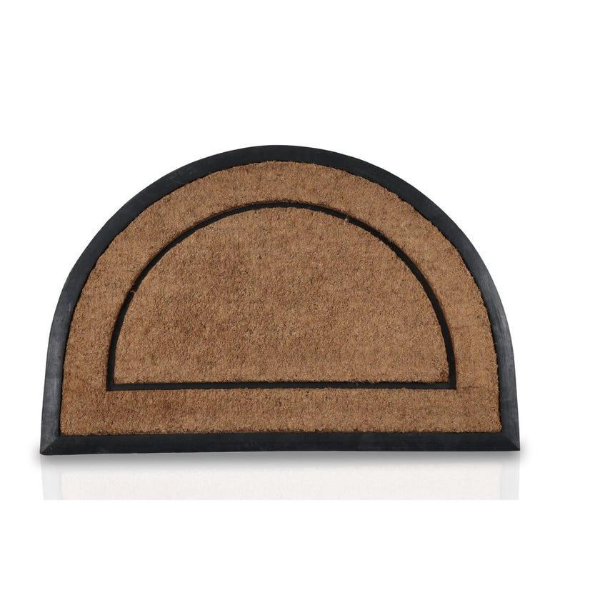 Kochi Rubber Coir Half Round Mat (Natural, 60 x 90 cms)