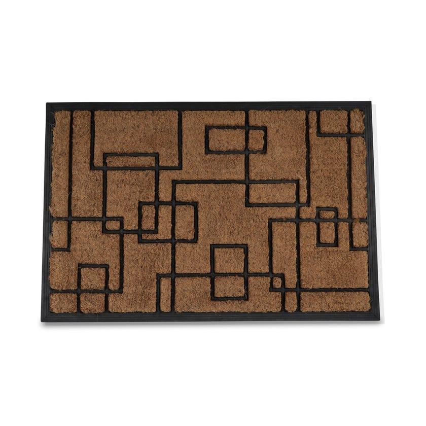 Nanded Rubber Coir Rectangle Mat (Natural, 60 x 90 cms)
