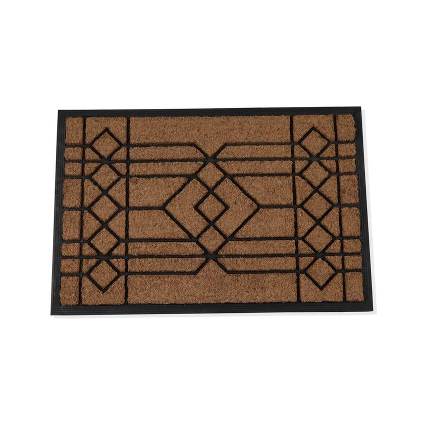 Ajmer Rubber Coir Rectangle Mat (Natural, 60 x 90 cms)