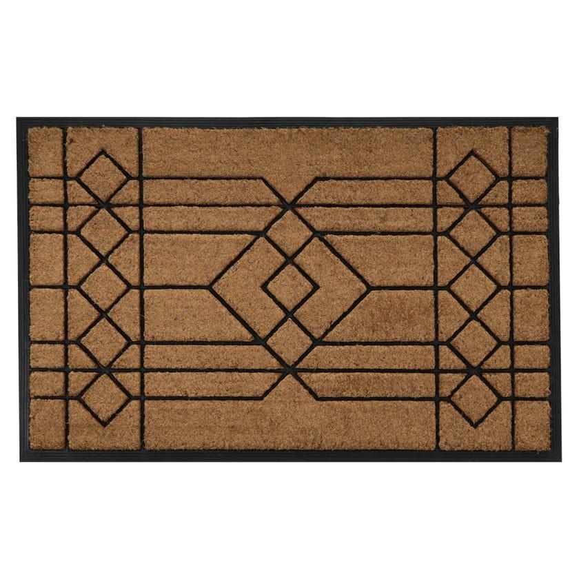 Ajmer Rubber Coir Rectangle Mat (Natural, 75 x 120 cms)