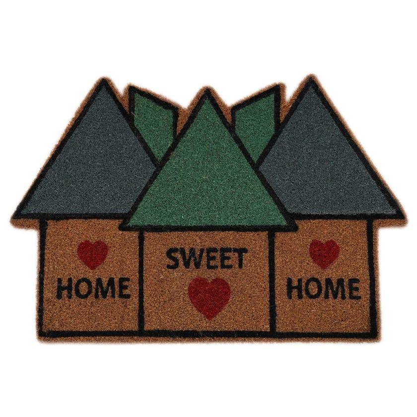 Home Sweet Home Coir Mat (Natural, 60 x 90 cms)
