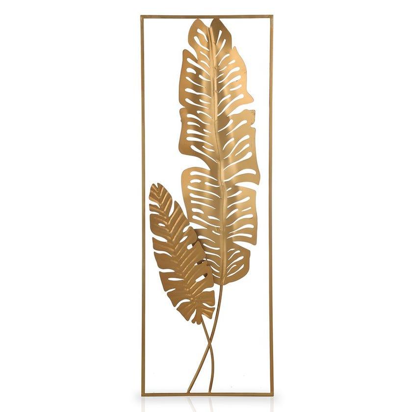 Leaf Metal Wall Decor, Gold