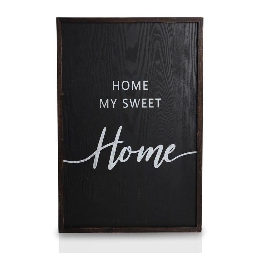 Home Wooden Plaque (40.2 x 60 cms, Multicolour)