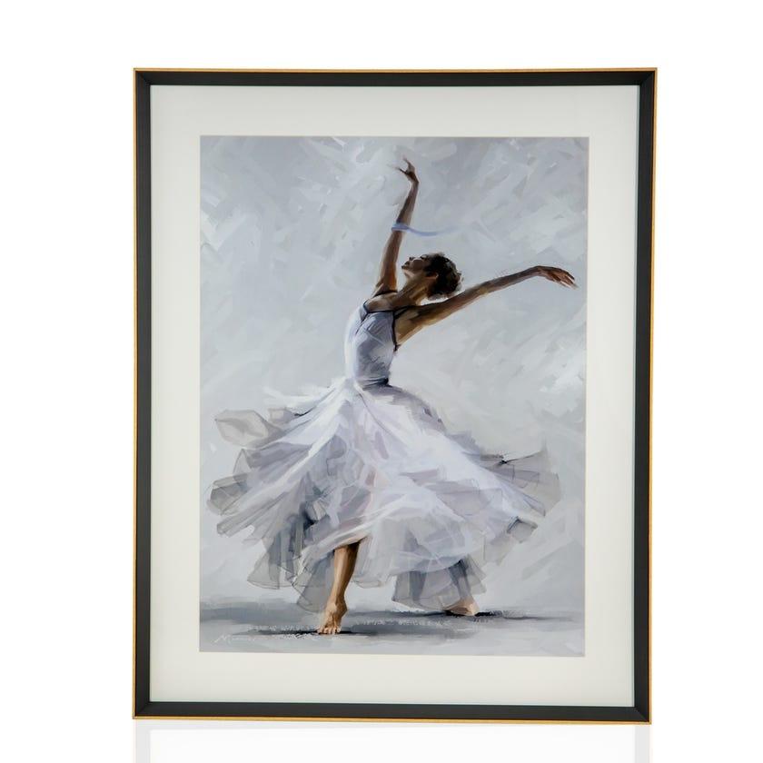 Modern Framed Art with Glass, Ballerina (Multicolour)
