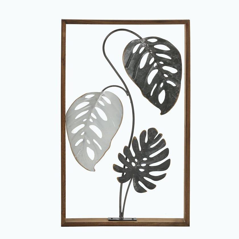 Palm Leaves Metal Wall Décor, Multicolour