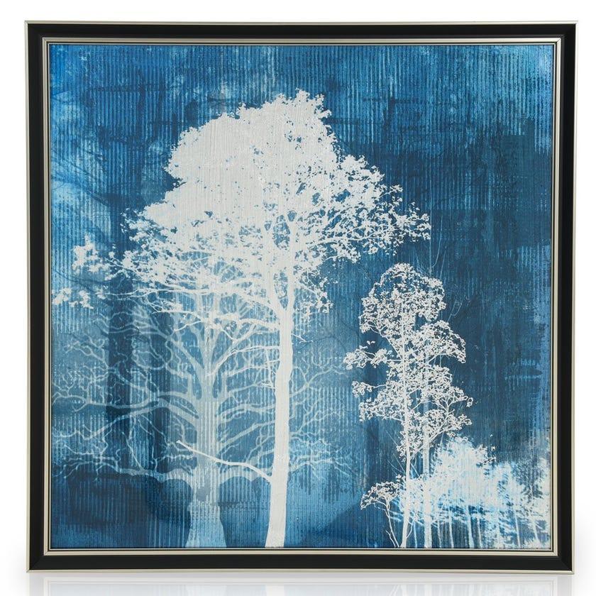 Nature Acrylic Art with Frame, Multicolour - 60x60 cms