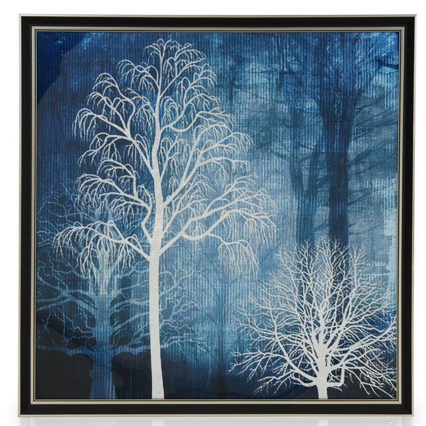 Wild Acrylic Art with Frame, Multicolour - 60x60 cms