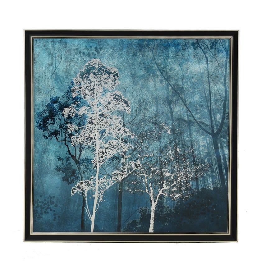 Forest Acrylic Art with Frame, Multicolour - 60x60 cms