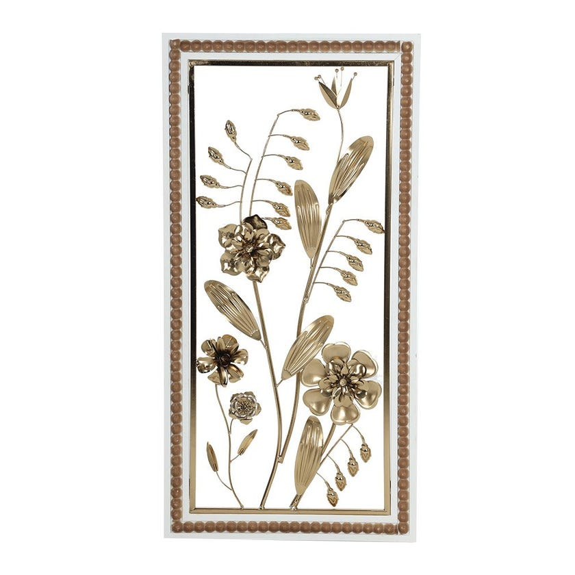 Floral Wall Art Decor with Frame, Multicolour – 80 x 40 cms