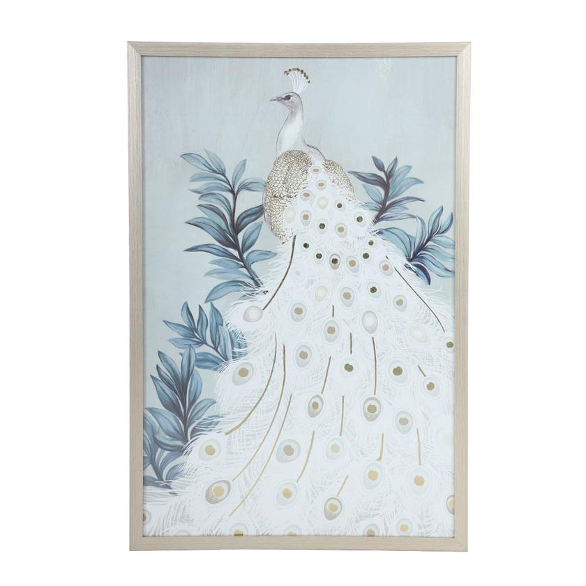 Peacock Framed Art, Multicolour – 50x76 cms