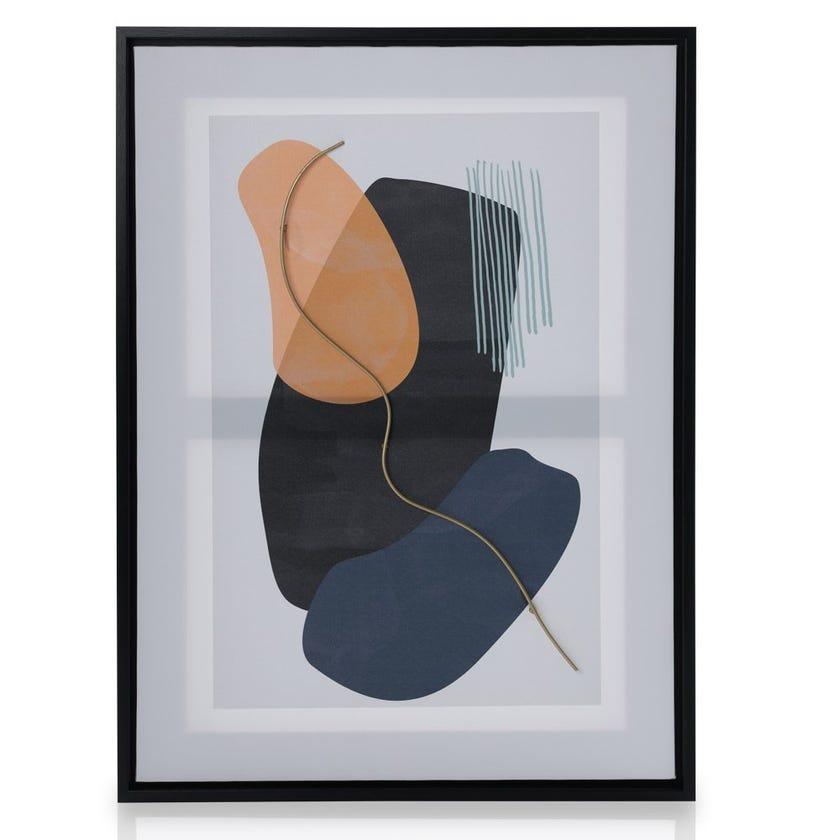 Shield Framed Art, Multicolour – 45x60 cms