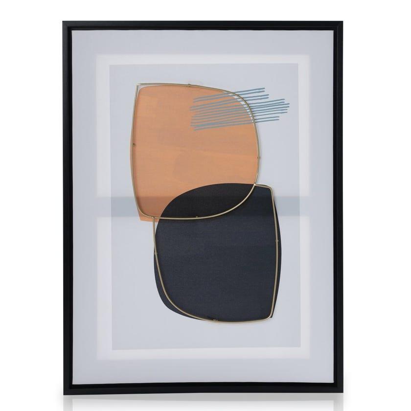 Shield Abstract Framed Art, Multicolour – 45x60 cms