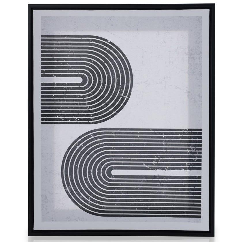 Horizontal Design Framed Art, Multicolour – 40x50 cms