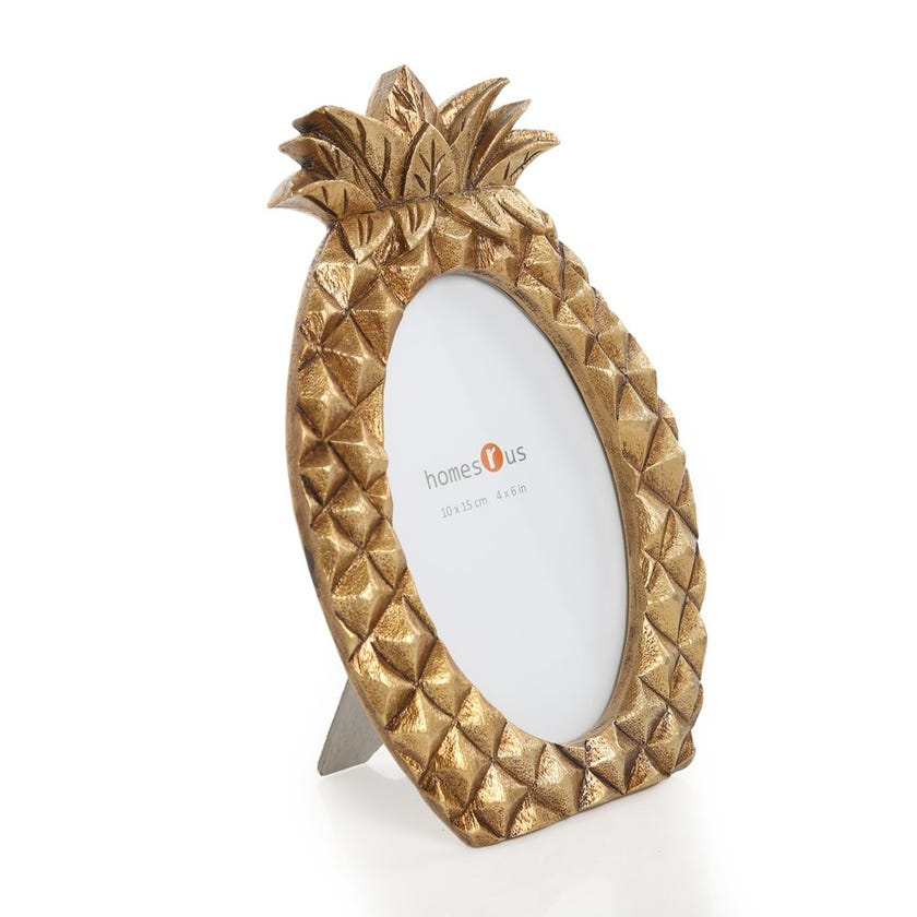 Pineapple Oval Photo Frame - 4 x 6 inches